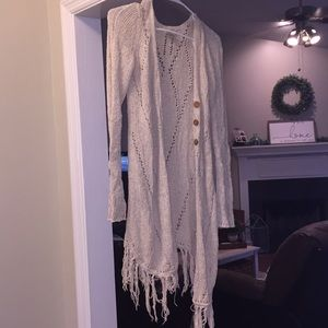 Lucky Brand Cream Cardigan